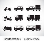vehicles icons set | Shutterstock .eps vector #130426922