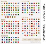 square flags of the world ... | Shutterstock .eps vector #1304274052