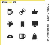 ui icons set with smartphone ...