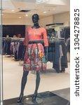 female mannequin in a... | Shutterstock . vector #1304278825