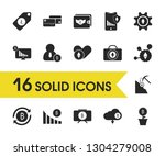finance icons set with wallet...