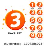 countdown left days. one two... | Shutterstock .eps vector #1304286025