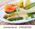 asparagus green and white | Shutterstock . vector #130430336