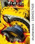 drive gear and bearings  cross... | Shutterstock . vector #1304317435
