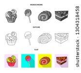vector design of confectionery... | Shutterstock .eps vector #1304318458