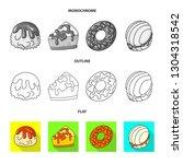 vector design of confectionery... | Shutterstock .eps vector #1304318542