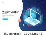 virus protection vector... | Shutterstock .eps vector #1304326348