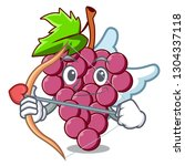 cupid red grapes fruit in... | Shutterstock .eps vector #1304337118