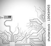 technological vector background ... | Shutterstock .eps vector #130434905