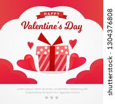 valentine's day greeting card... | Shutterstock .eps vector #1304376808