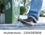 overlooking garbage  neglecting ...   Shutterstock . vector #1304385808