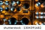 liquid chemical tank terminal ...   Shutterstock . vector #1304391682