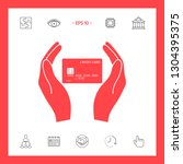 hands holding credit card....   Shutterstock .eps vector #1304395375
