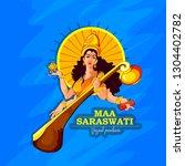 vasant panchami india festival  ... | Shutterstock .eps vector #1304402782
