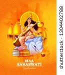 vasant panchami india festival  ... | Shutterstock .eps vector #1304402788