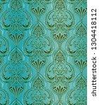 classic seamless wallpaper... | Shutterstock . vector #1304418112