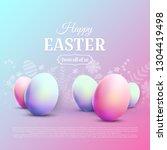 happy easter greetin card.... | Shutterstock .eps vector #1304419498