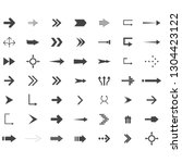 arrows vector collection with... | Shutterstock .eps vector #1304423122