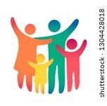 happy family icon multicolored...   Shutterstock .eps vector #1304428018