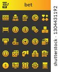 bet icon set. 26 filled bet... | Shutterstock .eps vector #1304431192