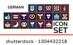 german icon set. 19 filled... | Shutterstock .eps vector #1304432218
