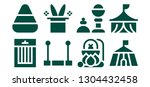 trick icon set. 8 filled trick... | Shutterstock .eps vector #1304432458