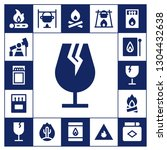 flammable icon set. 17 filled... | Shutterstock .eps vector #1304432638