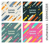 set of abstract covers with... | Shutterstock .eps vector #1304442205