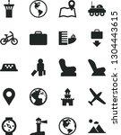 solid black vector icon set  ...   Shutterstock .eps vector #1304443615