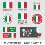 made in italy labels set ... | Shutterstock .eps vector #1304443945