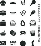 solid black vector icon set  ... | Shutterstock .eps vector #1304444665