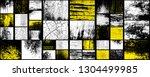 grunge set. detailed textures.... | Shutterstock .eps vector #1304499985