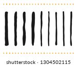 hand drawn paintbrush lines and ... | Shutterstock .eps vector #1304502115