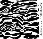 brush painted zebra seamless... | Shutterstock .eps vector #1304507665