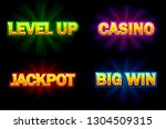 vector shining text casino ...