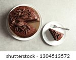 flat lay composition with tasty ... | Shutterstock . vector #1304513572