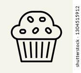 muffin cupcake concept line...