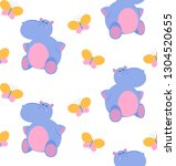 seamless vector pattern with... | Shutterstock .eps vector #1304520655