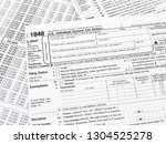 1040 tax form | Shutterstock . vector #1304525278