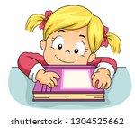 illustration of a kid girl... | Shutterstock .eps vector #1304525662