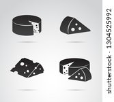 cheese vector icon set. | Shutterstock .eps vector #1304525992