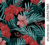 watercolor seamless pattern... | Shutterstock . vector #1304527885