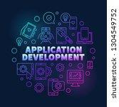 application development vector... | Shutterstock .eps vector #1304549752