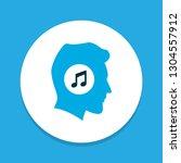 meloman icon colored symbol.... | Shutterstock . vector #1304557912