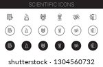 scientific icons set.... | Shutterstock .eps vector #1304560732