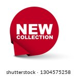 red vector banner new collection | Shutterstock .eps vector #1304575258