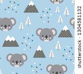 koala seamless pattern... | Shutterstock .eps vector #1304581132