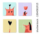 characters for valentines day... | Shutterstock .eps vector #1304581915