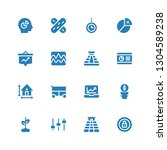 infographic icon set.... | Shutterstock .eps vector #1304589238