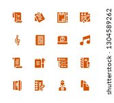 notepad icon set. collection of ...   Shutterstock .eps vector #1304589262